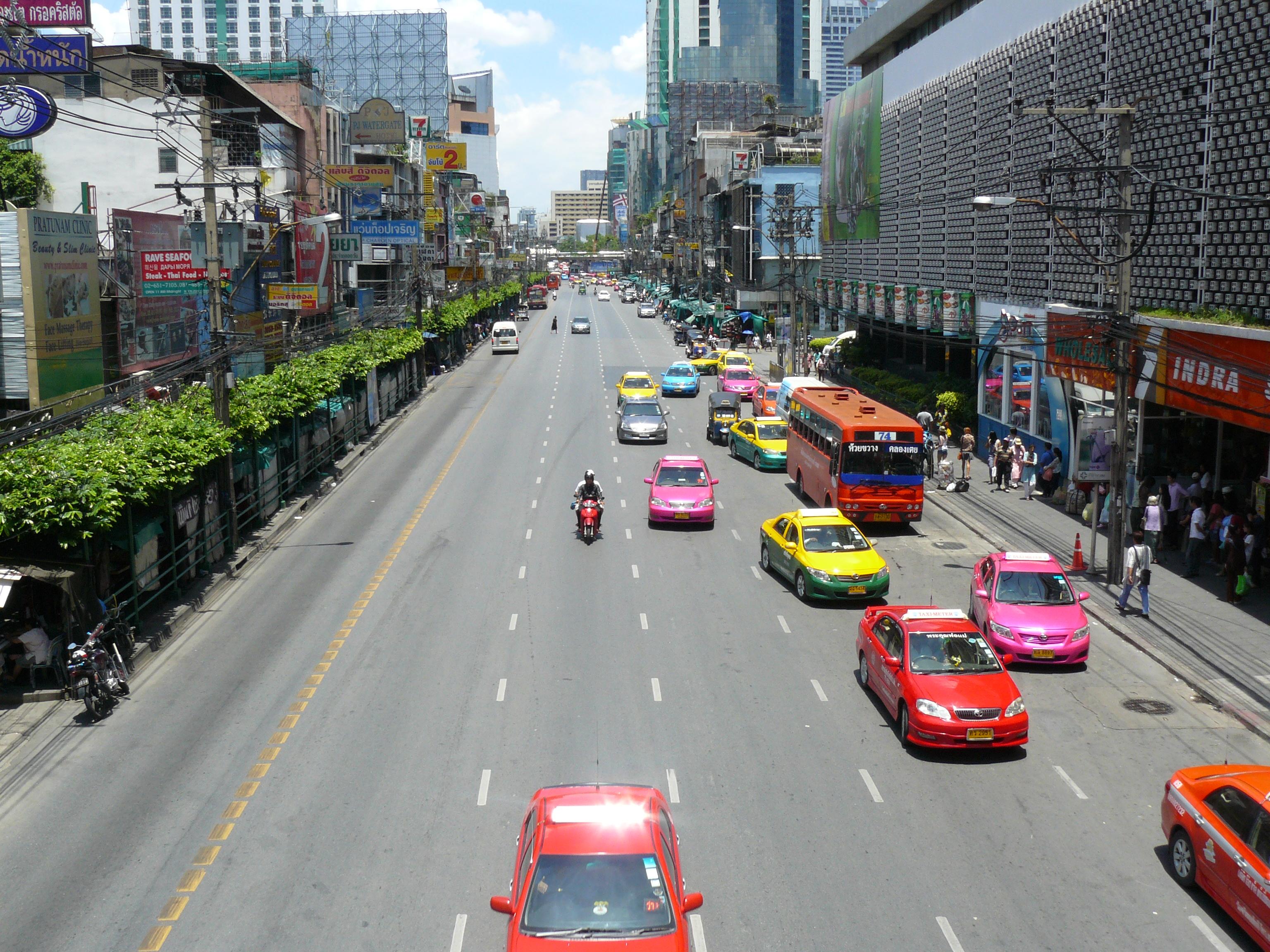 Taxis in Bangkok, Thailand, 2011
